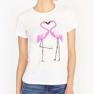 J. Crew Collector Tee Shirt Flamingo Sz M